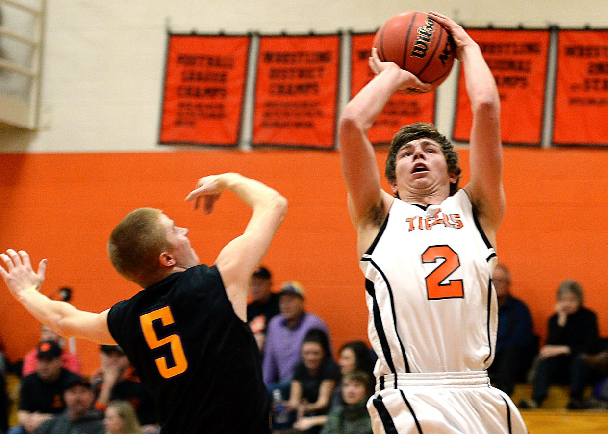 Greg Frentress puts up a shot Friday.