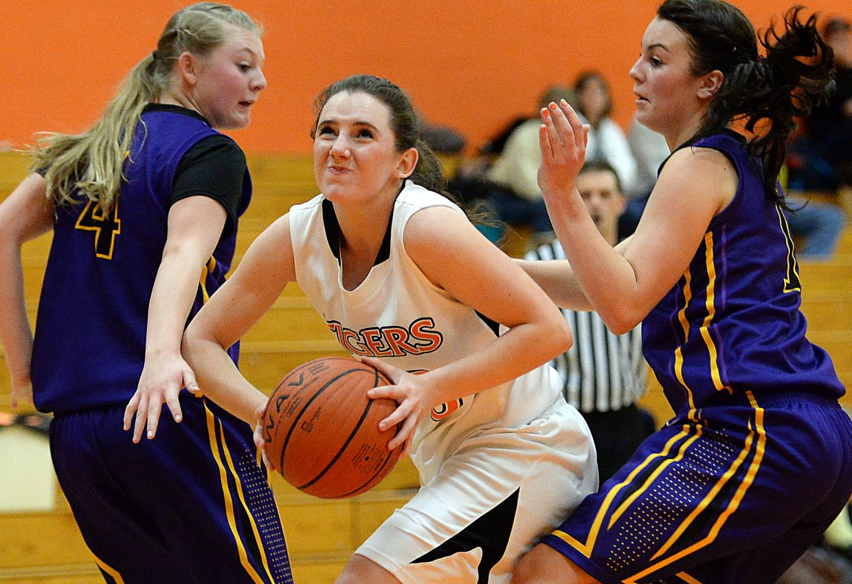 Taylor Hagar looks to pass the ball Friday.