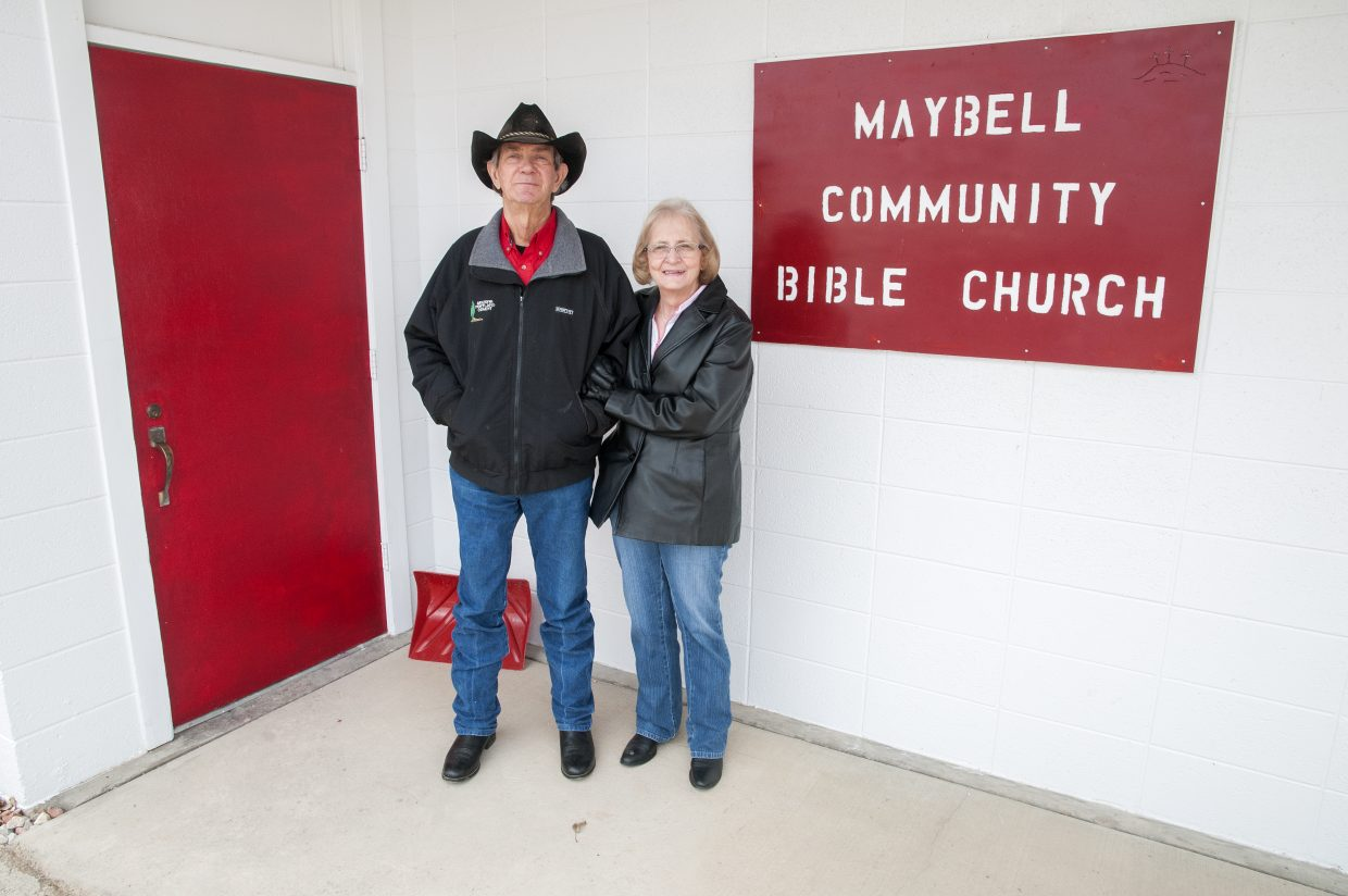 Maybell locals Orval and Linda Taylor can be found every Sunday at Maybell Bible Church for the weekly 10 a.m. service.