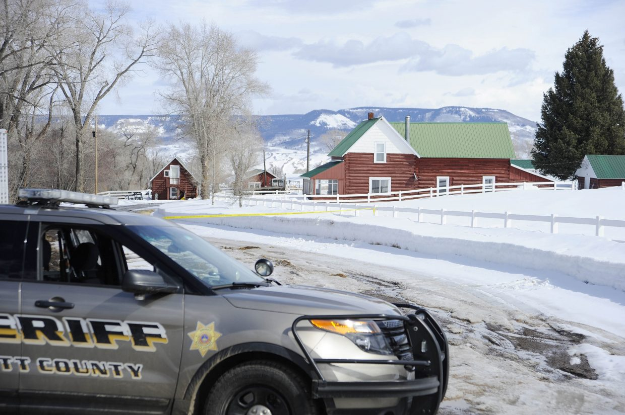 The carjacking suspects peacefully walked out of this home, located on Routt County Road 7.