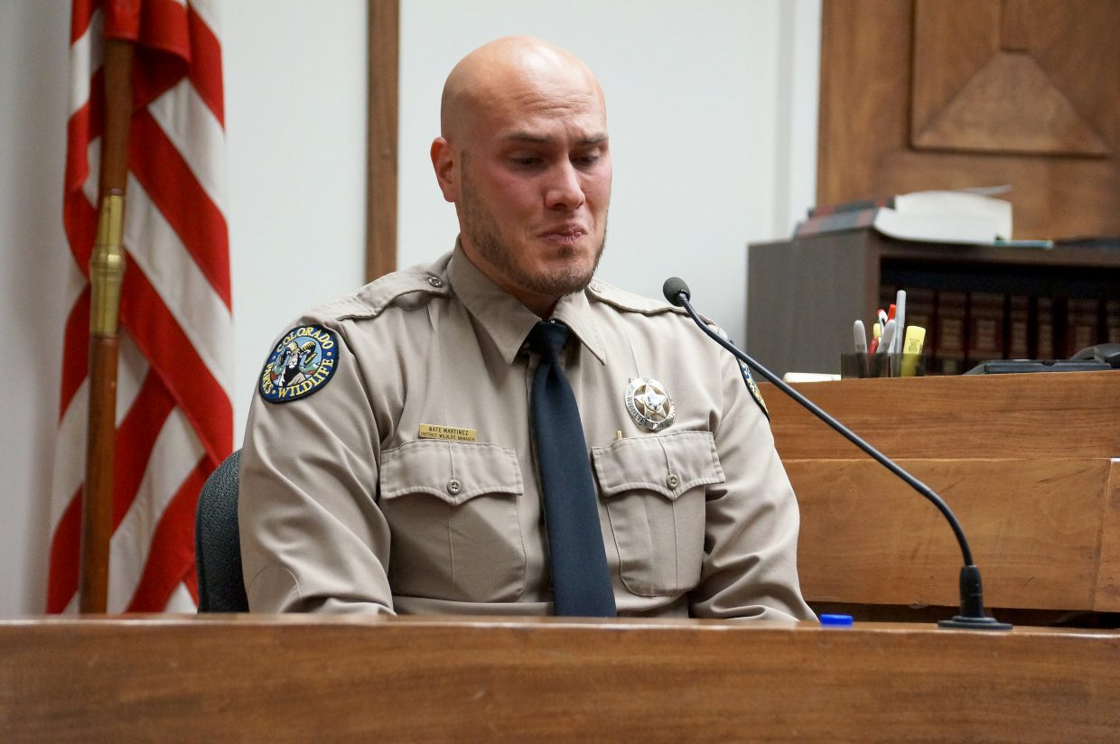 Colorado Parks and Wildlife Officer Nathan Martinez recalls getting the upper hand on James Brent Damon after Damon held him at gunpoint.