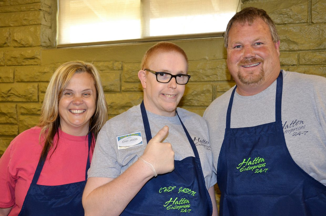 Joanna Hatten, Jason Latham and Kelly Hatten enjoy their time at Pick a Dish. They won first place in the Peoples Choice awards.