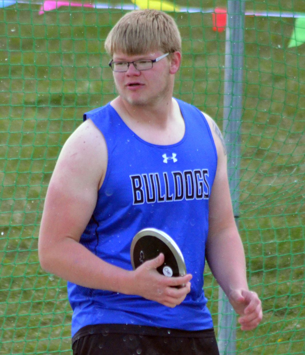 Moffat County High School's Zane Shipman readies for his final throw in the boys discus at Friday's Clint Wells Invitational in Craig.
