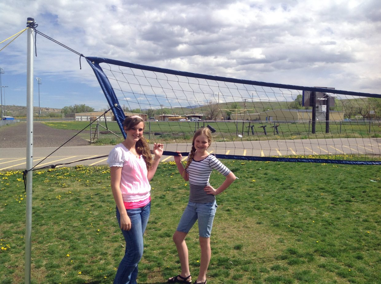 cms students achieve goal for outdoor volleyball net