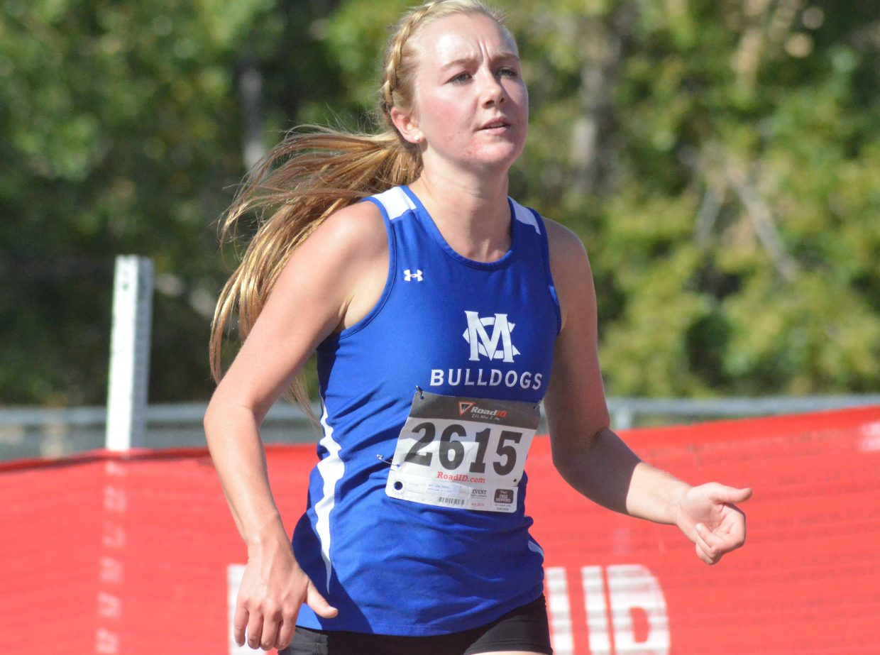 Moffat County High School's Allie Dilldine runs for the cross country team during the Liberty Bell Invitational. The nominee for Outstanding Female Athlete ran cross country, track and competed on the swim team.