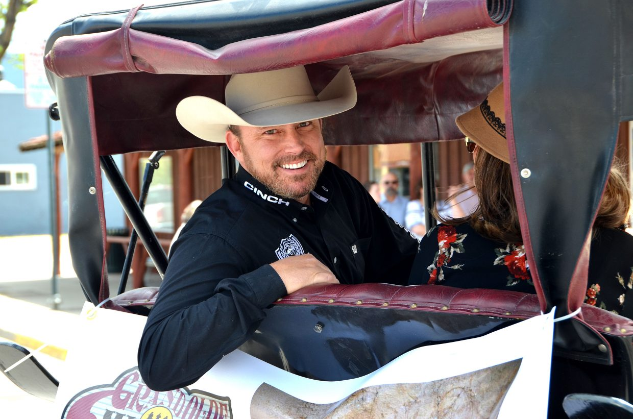"""Chad Prather, a rising social media star, was the grand marshal at the Grand Olde West Days Parade. According to Prather's website, """" Through his social media humor videos, he is considered to be one of America's fastest growing public personalities."""""""