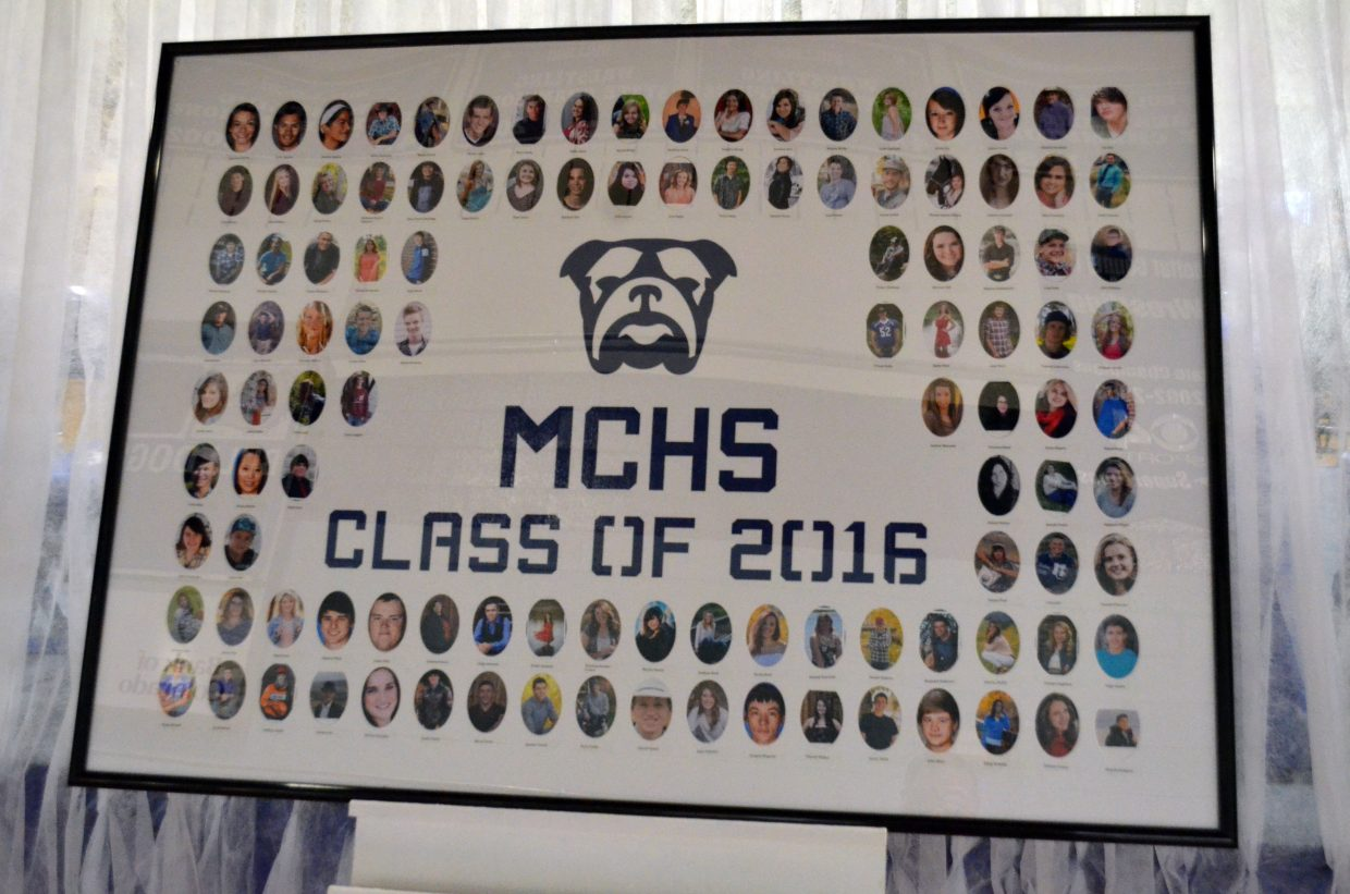 The collage of senior pictures of the Class of 2016 for Moffat County High School was the first thing people saw upon entering the gym Saturday.