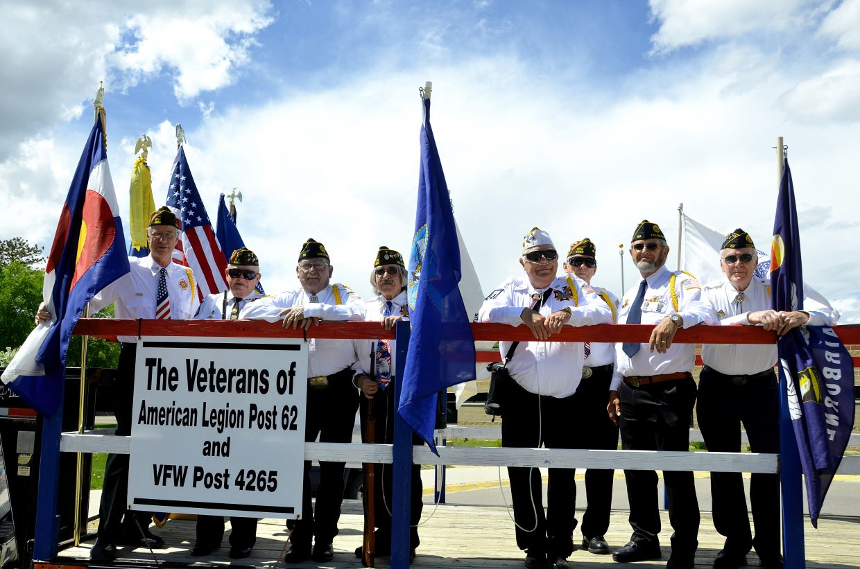 Craig's veterans prepare to lead the Grand Olde West Days parade on Saturday.