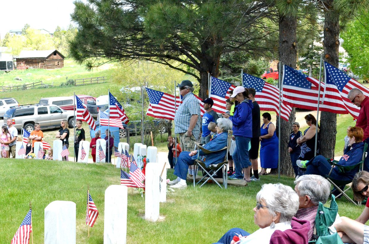 Moffat County residents gather at Craig Cemetery on Memorial Day to honor fallen veterans.