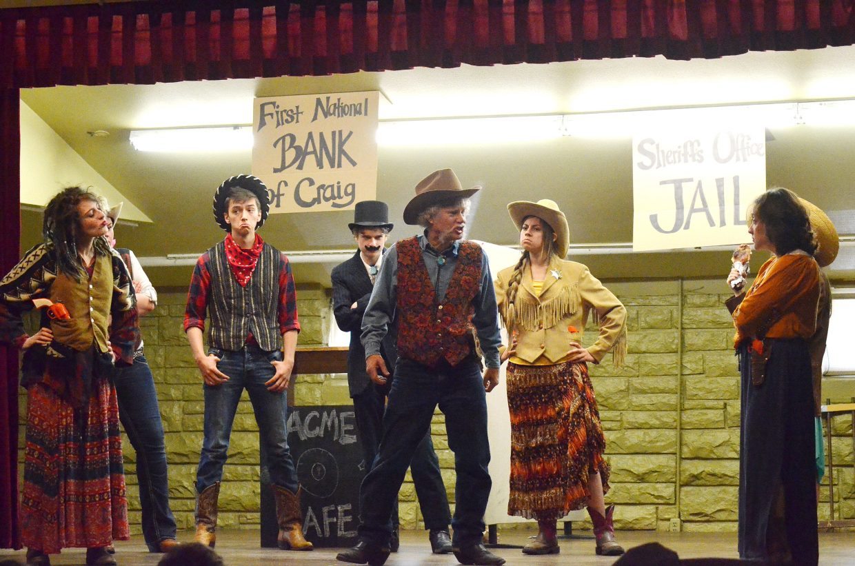 """Randy Looper plays Butch Cassidy in """"An Old West Craig Crime Spree"""" that was performed Monday evening."""