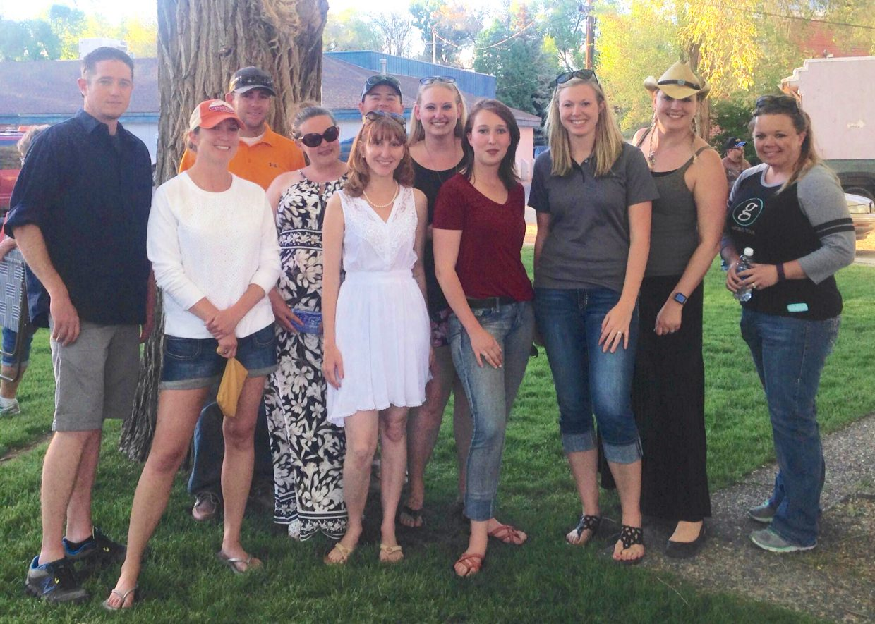 Members of Yampa Valley Young Professionals gather together following the Friday Fest and Dinner on the Avenue in Alice Pleasant Park. The group is for people in their 20s through 40s to network and promote happenings in the community.