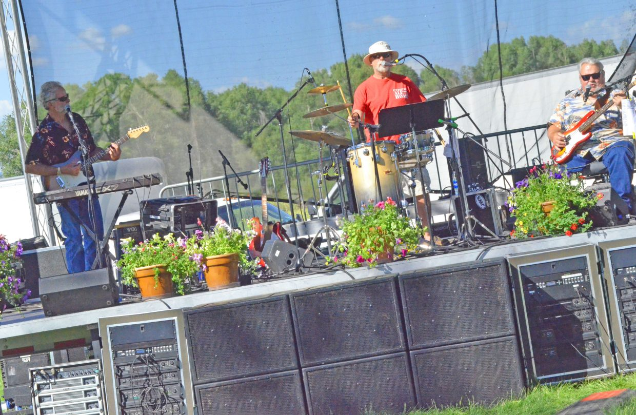 The members of Northwest Colorado's River City Band perform Friday as part of Whittle the Wood Rendezvous.
