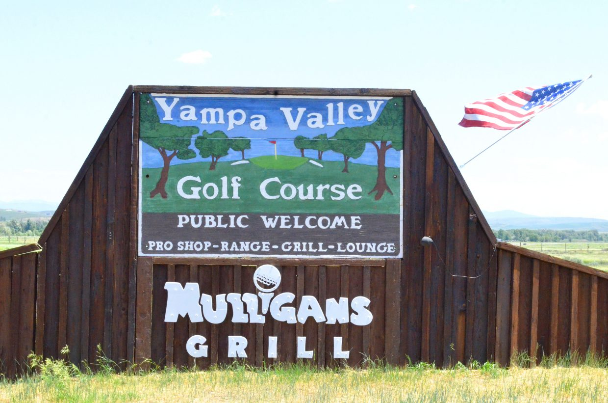 The updated sign of Yampa Valley Golf Course welcomes golfers to the links as well as to the new restaurant, Mulligan's.