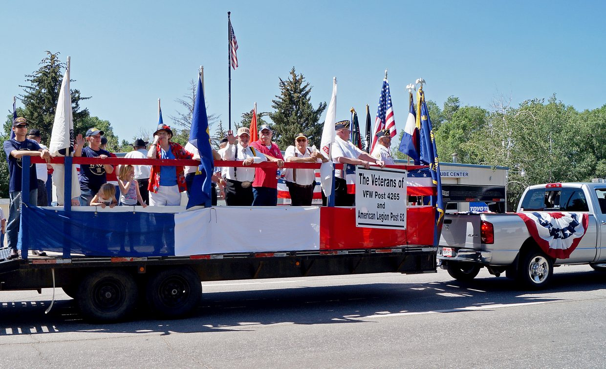 Veterans from Craig and Moffat County lead the charge in the sixth annual Independence Day parade.