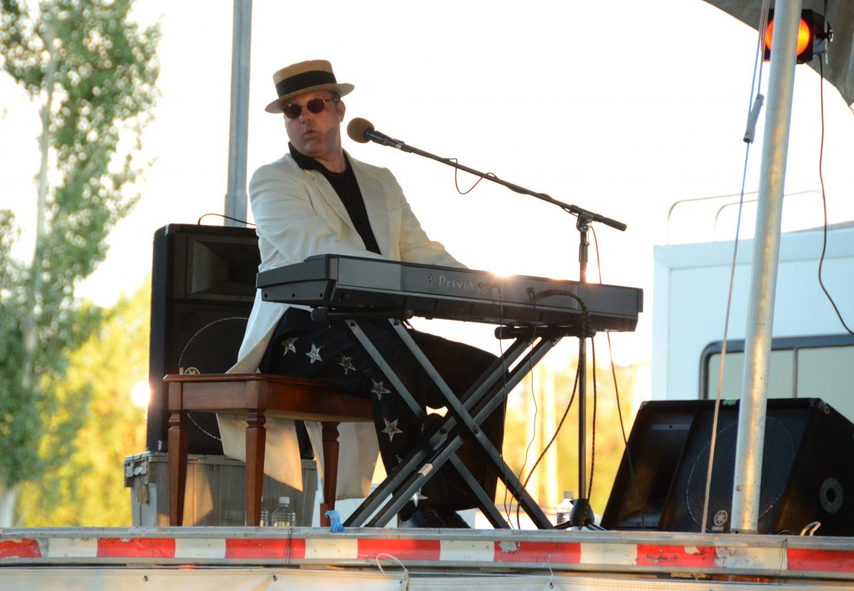 Elton John cover band Bennie and the Jets played at Loudy-Simpson park from 6 to 8 p.m. to large crowds.