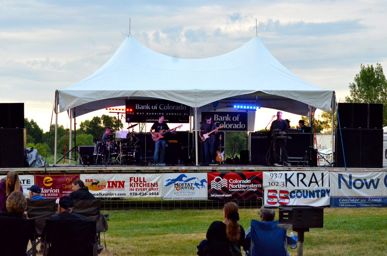 The Steve Thomas Band, of Denver, rocked the crowd Saturday at the seventh annual Moffat County Balloon Festival at Loudy-Simpson Park in Craig.