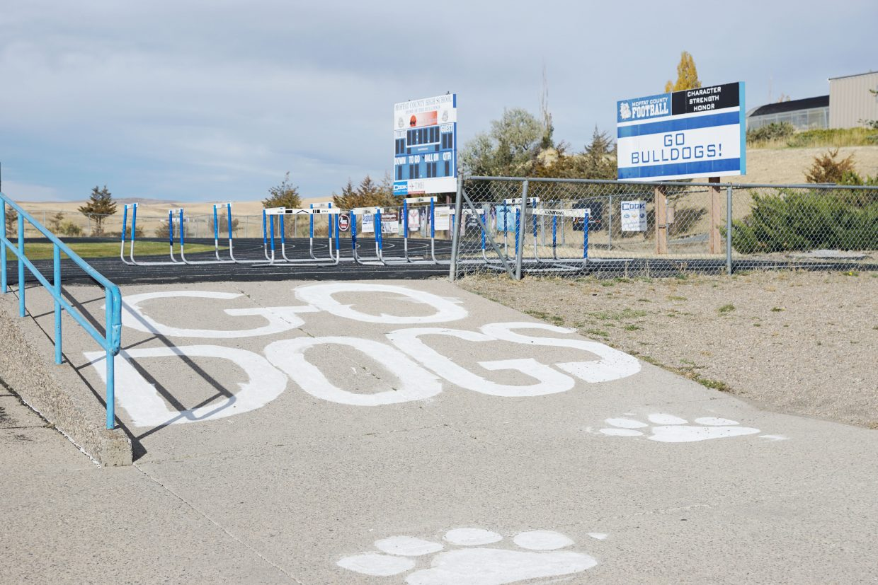 The Moffat County High School proving grounds ready for the big 2016 Homecoming game that pitted the Bulldogs against the Steamboat Sailors.