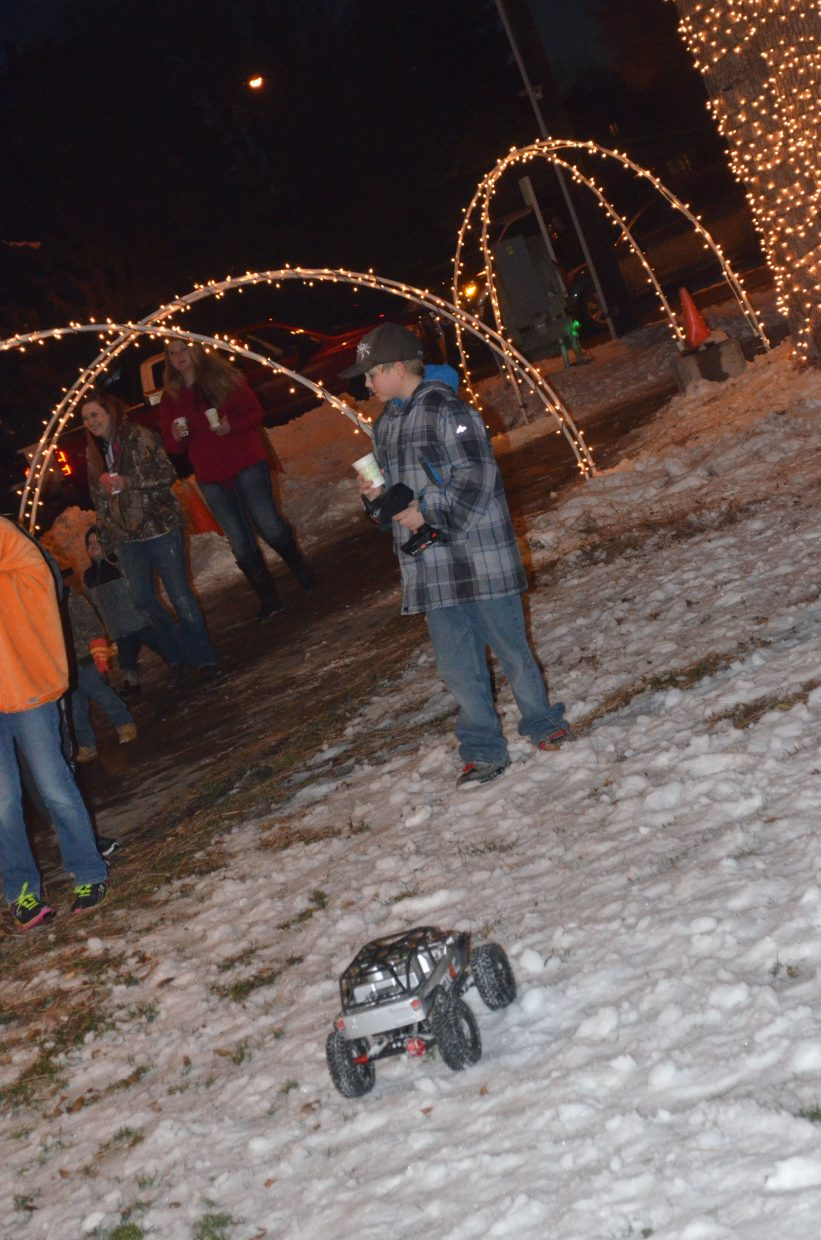 Remote control cars were among the activities available for kids as part of Saturday's Down Home Christmas Celebration in Alice Pleasant Park.