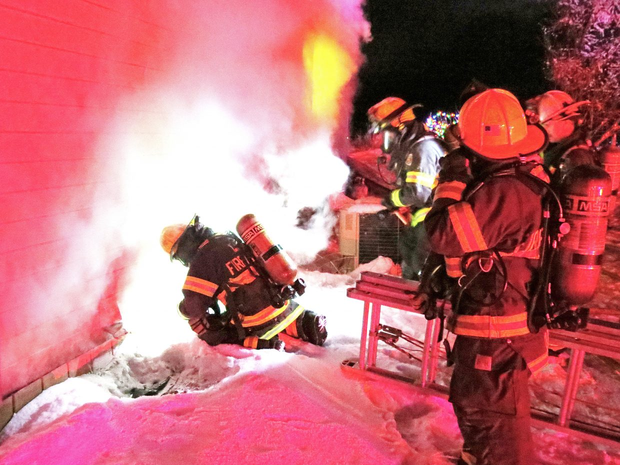 First responders were on the scene for four to five hours before containing the blaze, Craig Fire/Rescue Battalion Chief Troy Hampton said.