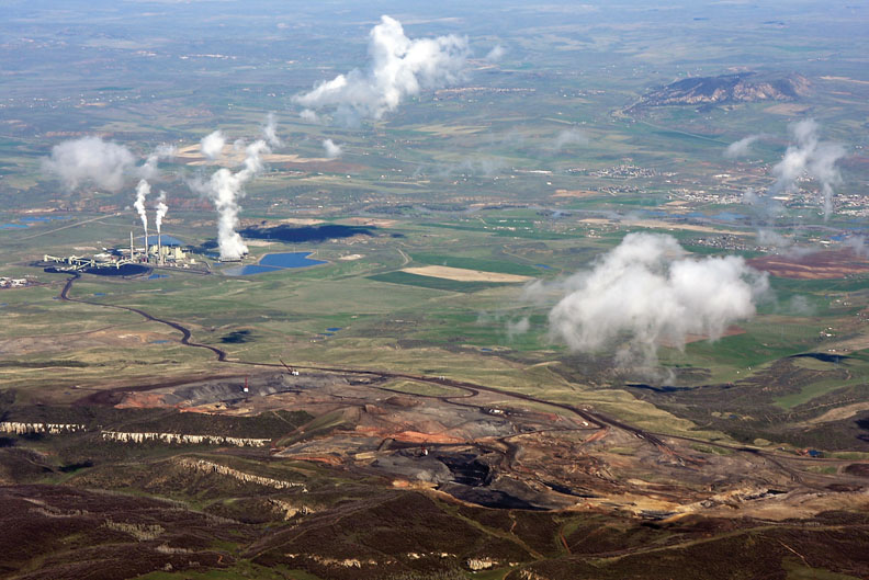 Trapper Mine Co., located behind Craig Station, trucks coal to the plant by road, seen here by an aerial view May 20. Trapper produced 2.1 million tons of coal in 2009.