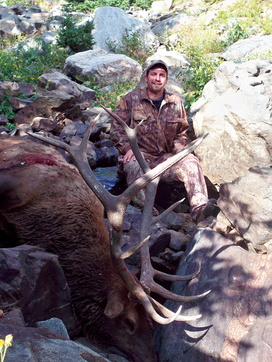 Olympic downhiller Craig Thrasher with the fruits of his favorite hunt.