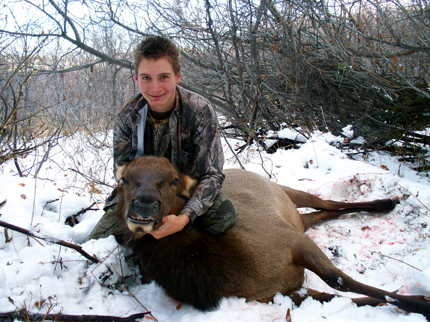 Hawken White, of Buena Vista, killed this cow elk in Unit 13 south of Craig in Moffat County.