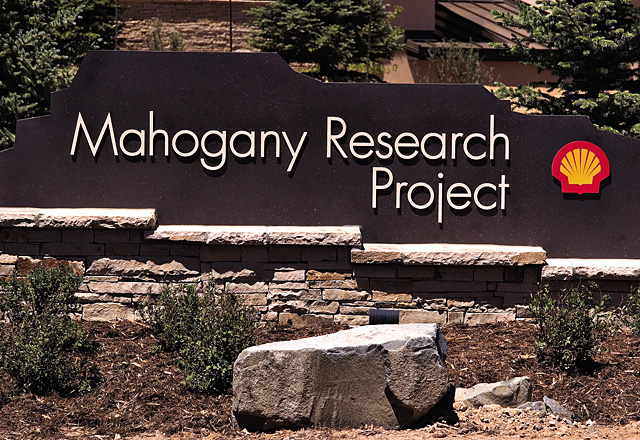 The Mahogany Research Project, operated by Shell Oil, seeks to make oil shale a more viable source of fossil fuels in the near future. This plant near Meeker is a pilot program for possible future development.