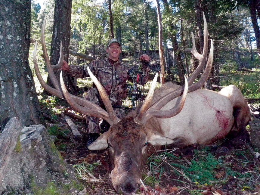 Olympian Todd Lodwick with his elk in 2010.