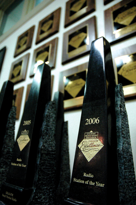 Awards have come in bunches for KRAI during the recent years, including eight consecutive Colorado Broadcasters Radio Station of the Year.