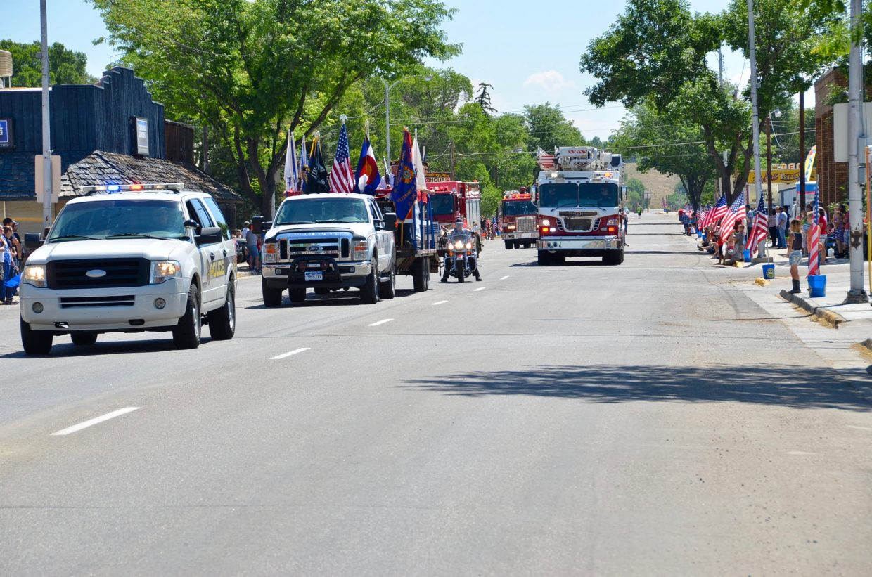 The start of the 2017 Fourth of July parade.