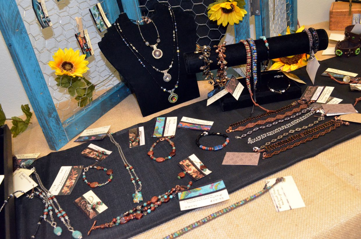 A variety of handcrafted jewelry from local makers LCCH Collection is part of the Autumn Pop-Up Makers Market at 59 W. Sixth St.