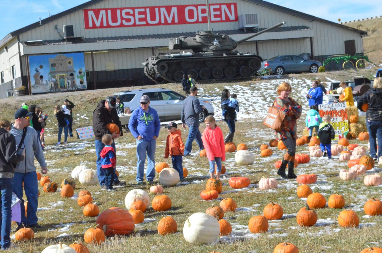 Patrons have plenty of options at the Wyman Living History Museum pumpkin patch.