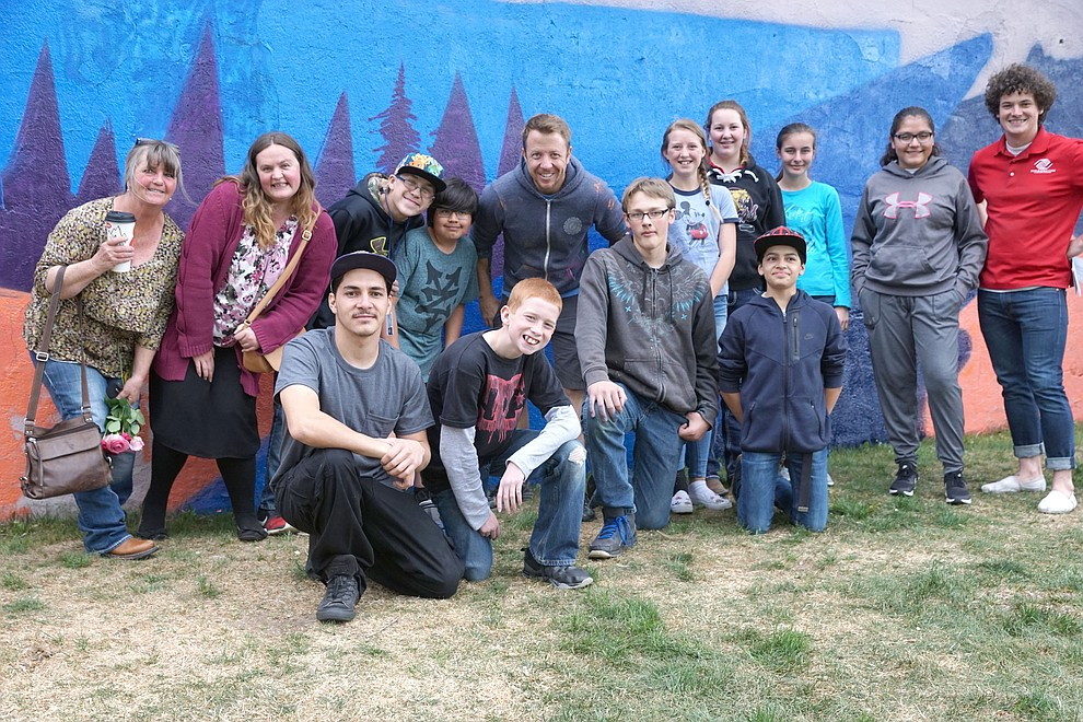 Rise Above Colorado provided several thousand dollars to support a project that empowered area youth to design a mural expressing their feelings about the place the call home. Boys & Girls Club of Craig members were joined by the building owner, nonprofit representatives to help muralist Bimmer Torres.