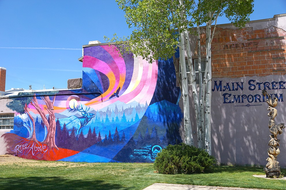 The completed mural on the south side of Main Street Emporium at 576 Yampa Ave.