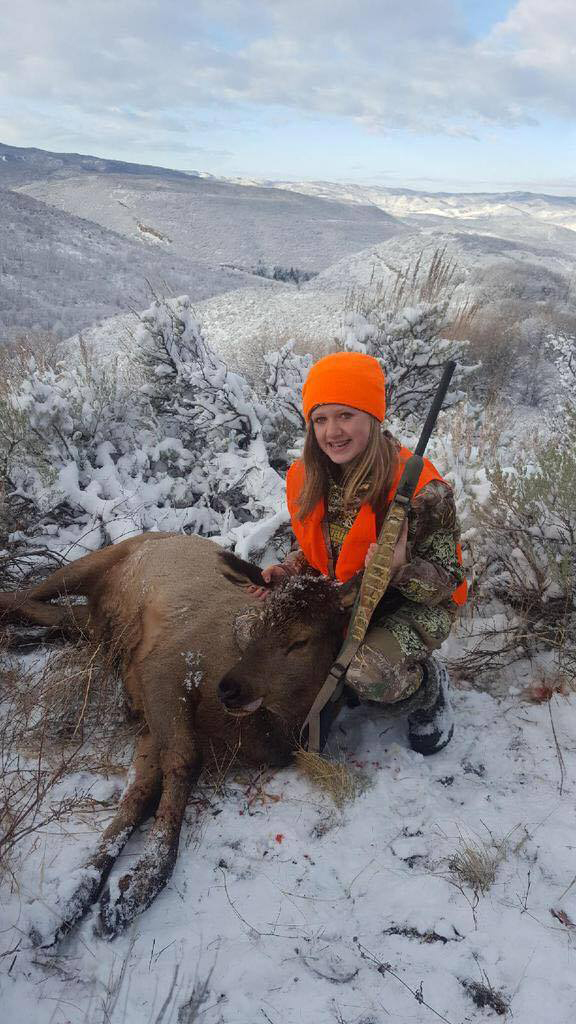 Marlee Fedinec was hunkered down in the elements of Northwest Colorado when she claimed a cow elk this hunting season.