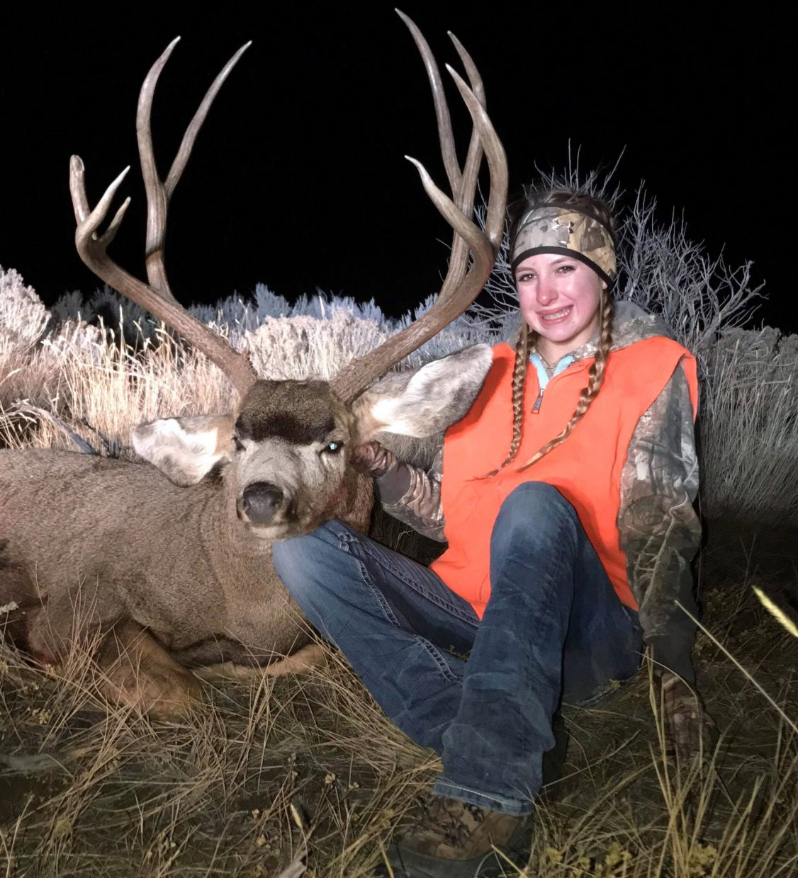 Halle Hamilton claimed a buck this hunting  season near Maybell on Juniper Mountain.
