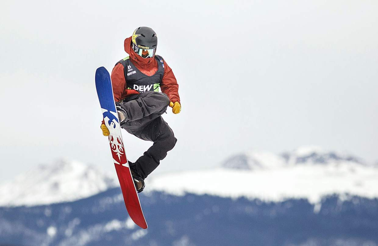Silverthorne resident Chris Corning of the United States competes in the slopestyle finals during the Dew Tour event Saturday, Dec. 16, at Breckenridge Ski Resort. After Corning's second place finish witha high score of 95, he qualified for the 2018 Winter Olympics in Pyeongchang, South Korea. Corning will take part in next month's X Games Aspen.