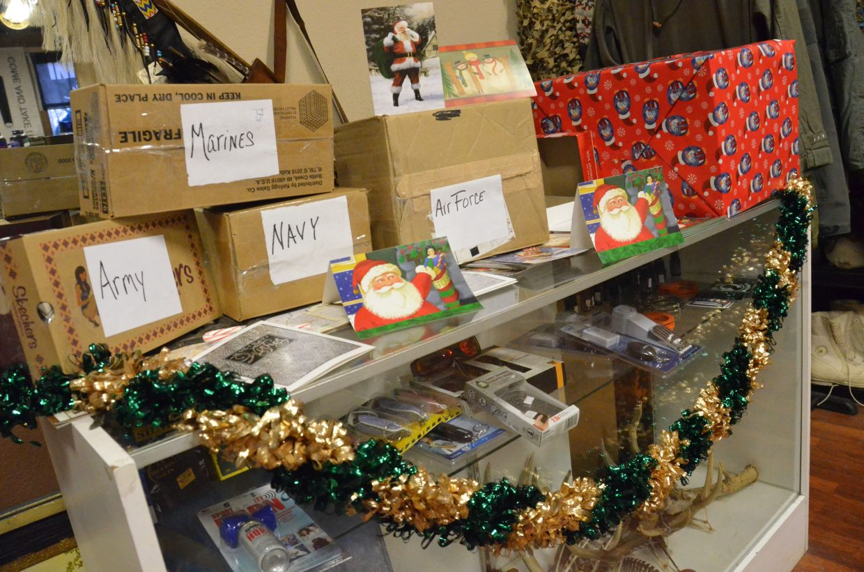 Christmas cards and other materials designated for military branches are being collected by Thunder Run Survival.