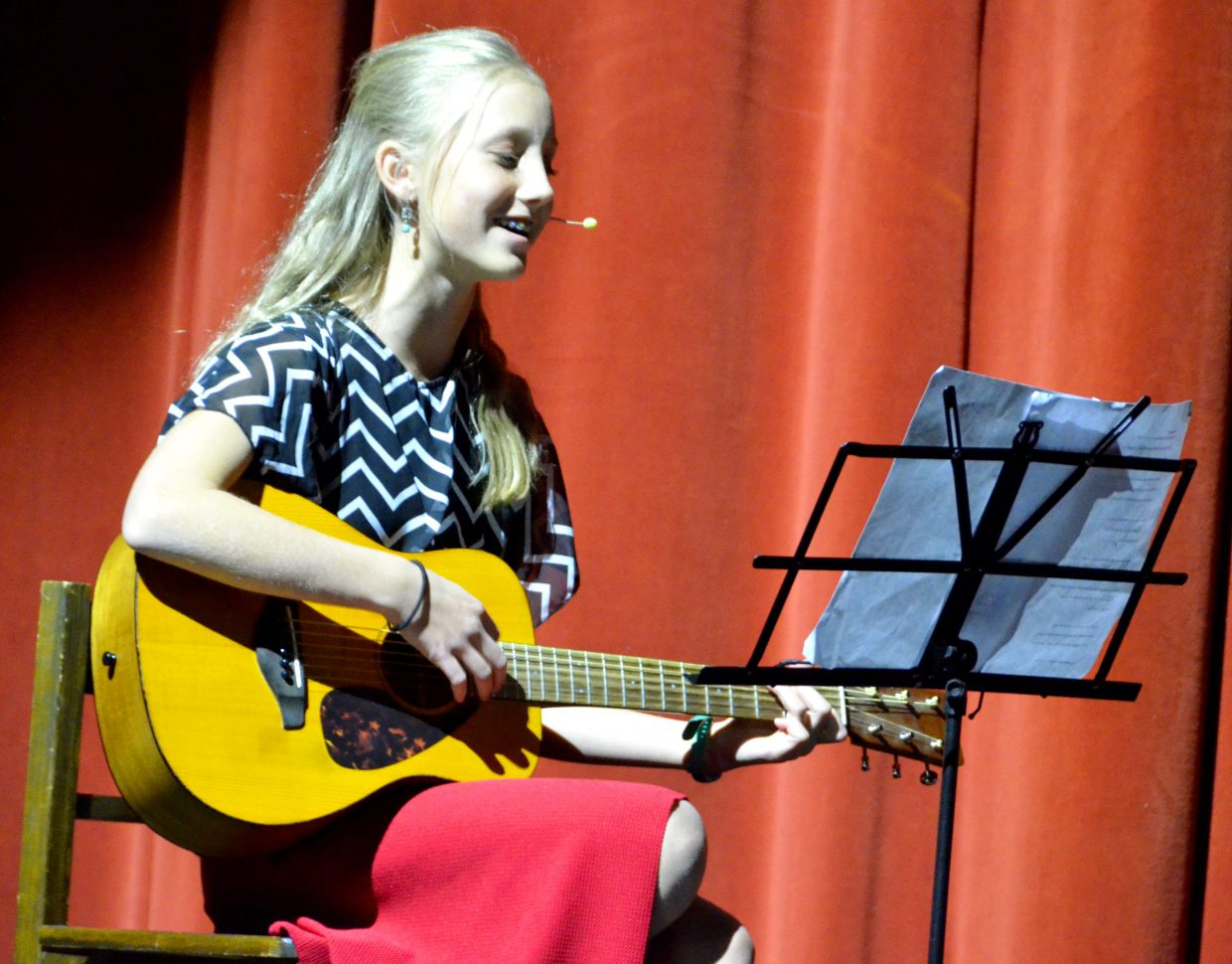 Haley Boatman performs the tune