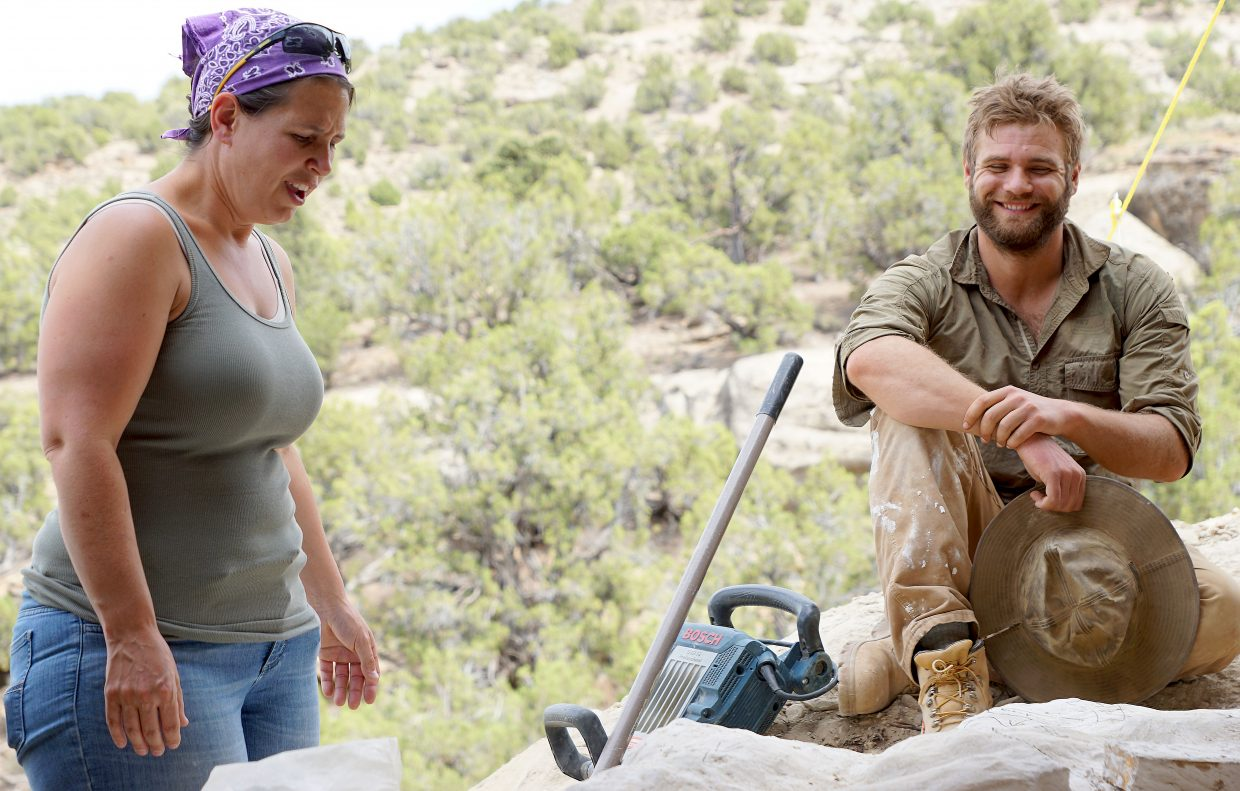 Paleontologists at Colorado Northwestern Community College, Liz Johnson and Tyler Bridges have been digging up Northwest Colorado's past, teaching students while making ground breaking discoveries.