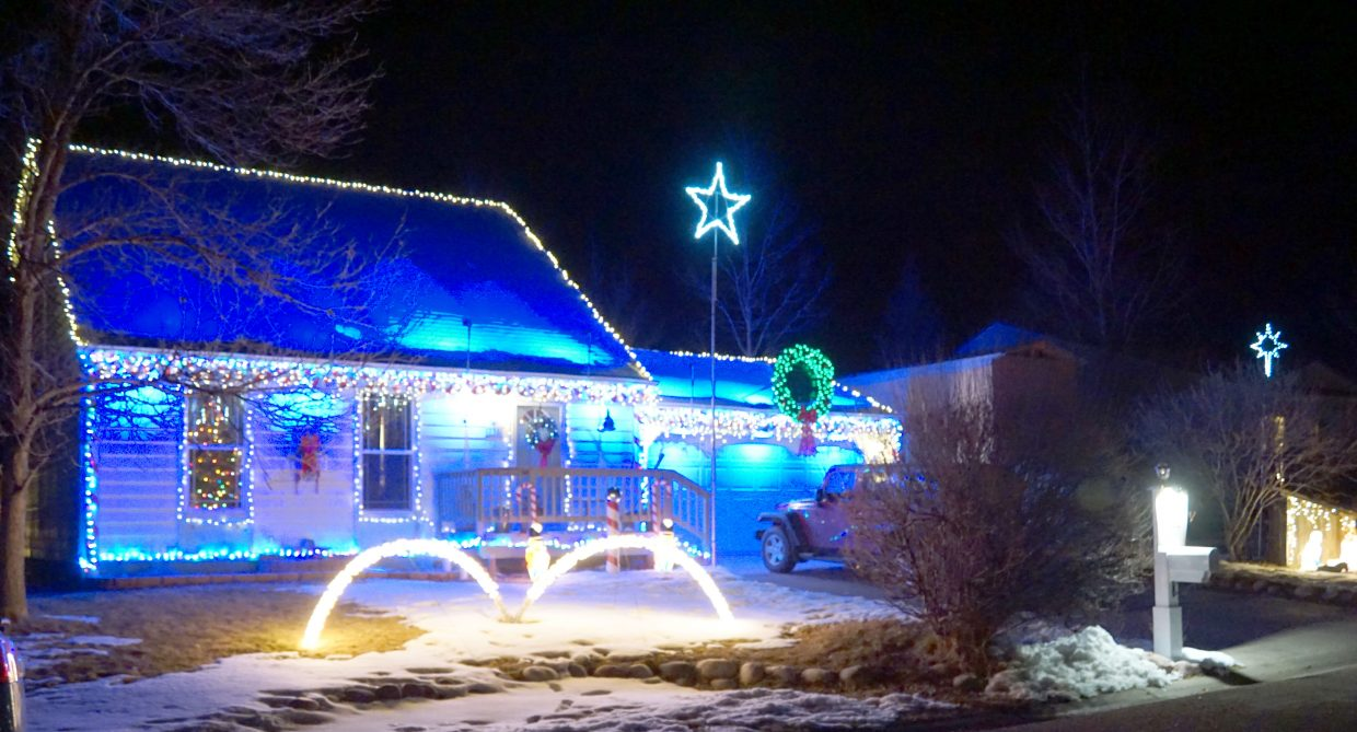 Perfectly synchronized lights and music dazzle visitors at 738 Exmoor Road.