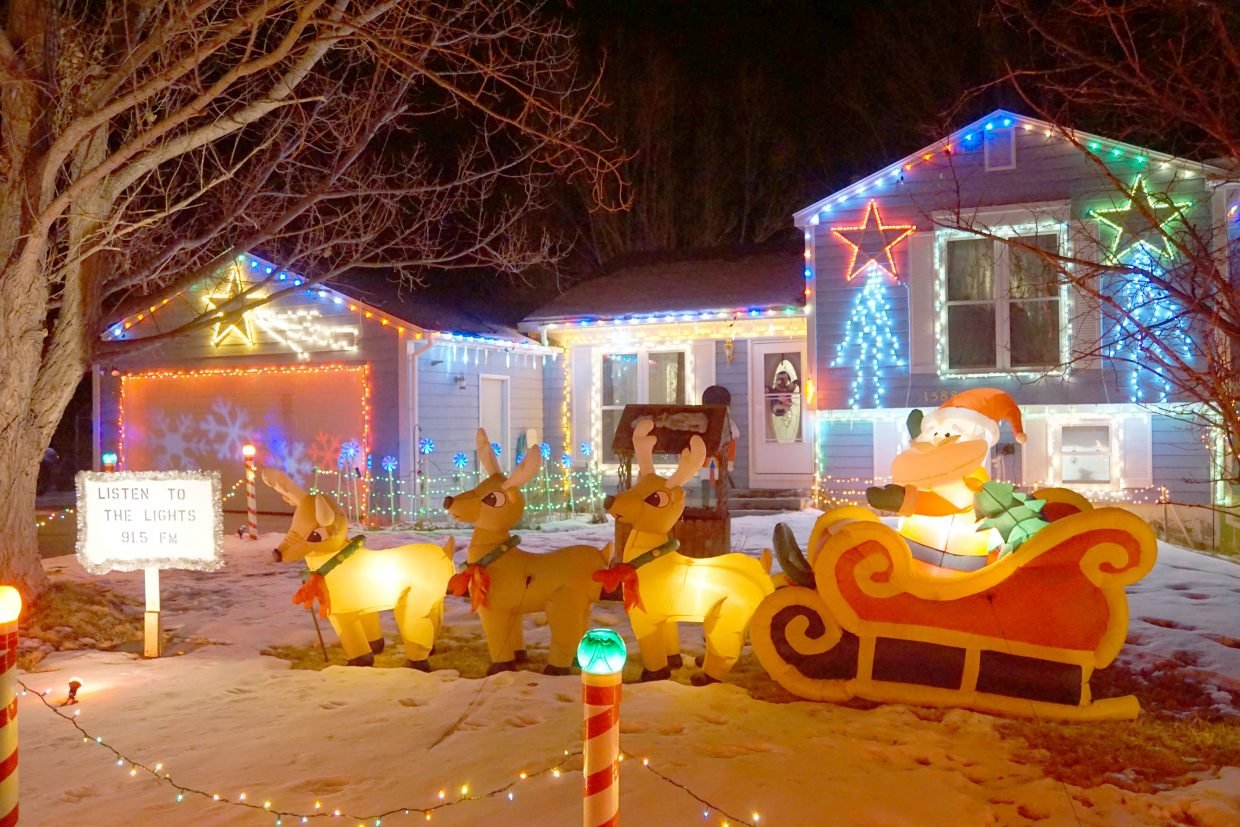 Santa Claus, reindeer and lights at 1588 E. 10th St. synchronized with holiday tunes are a winning combination and earned the Pike residence second place in the 2017 Holiday Tour of Lights.