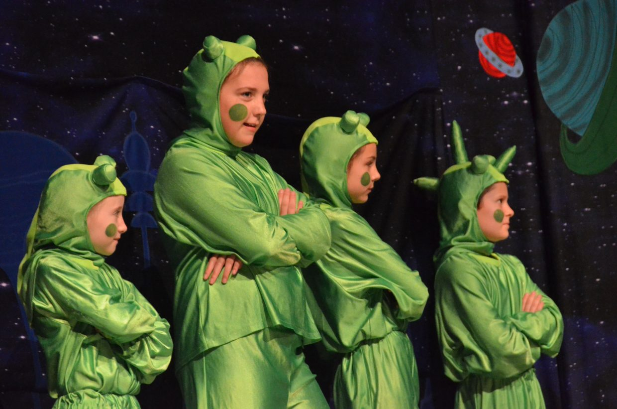The Lilliputians are skeptical about their new visitors in Missoula Children's Theatre's