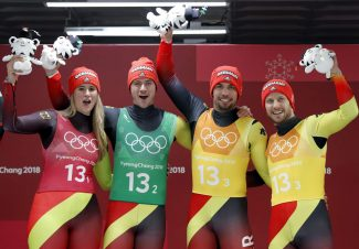 Geisenberger, Germany win another gold in Olympic relay
