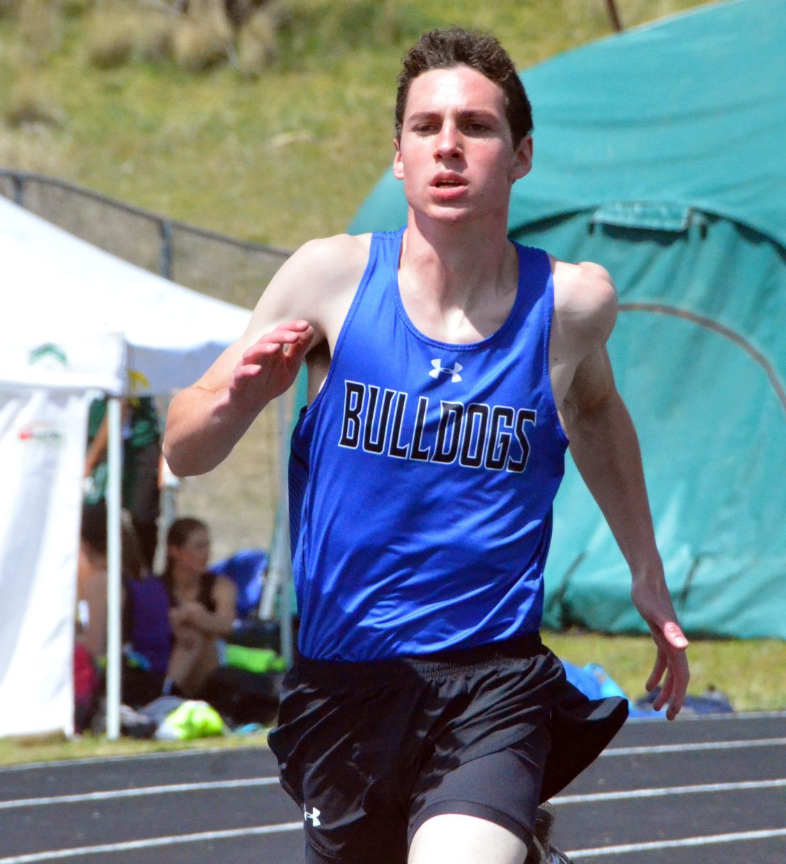 Moffat County High School's Grant Wade stays steady during the boys 400-meter dash Friday at the Clint Wells Invitational.