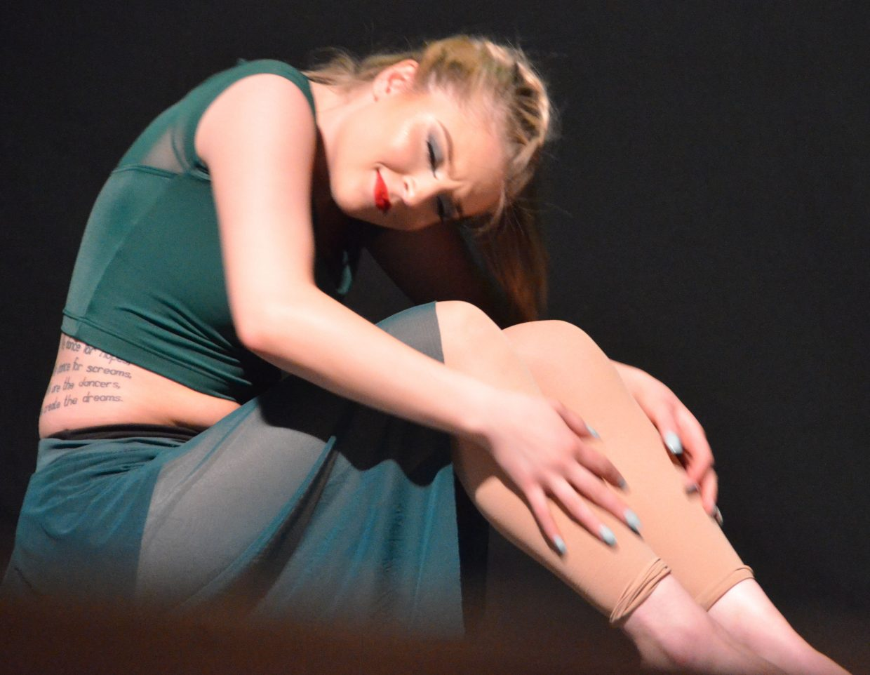 Senior dancer Madison Meckley performs to