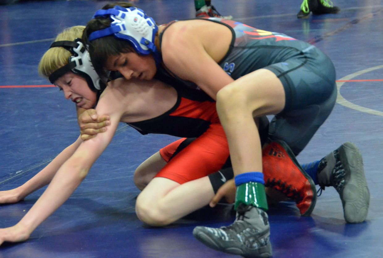 Jevon Vigil keeps working in Saturday's Levi Weber Memorial Tournament.