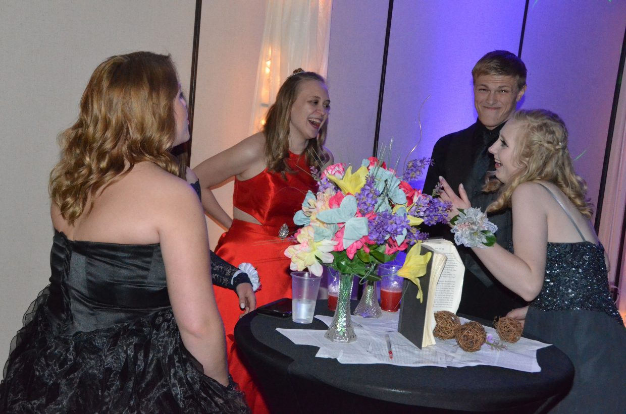 Students are in good spirits  during Moffat County High School prom at Clarion Inn & Suites.