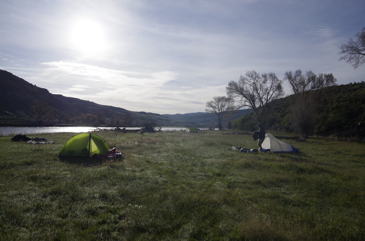 One of the five camp sites improved and ready for the public.