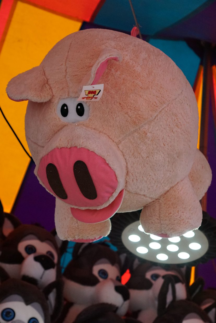Pigs can fly at the carnival.
